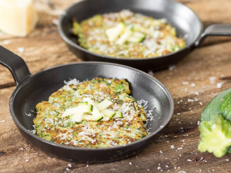 So Knusprig Wie Fritters Low Carb Pancakes Mit Zucchini Rezept