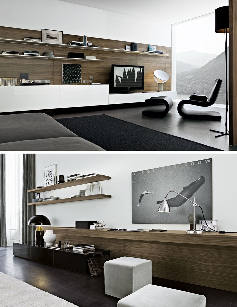 Wall Tv Unit Design Tv Unit: Contemporary TV Wall Unit_SINTESI By Carlo Colombo By