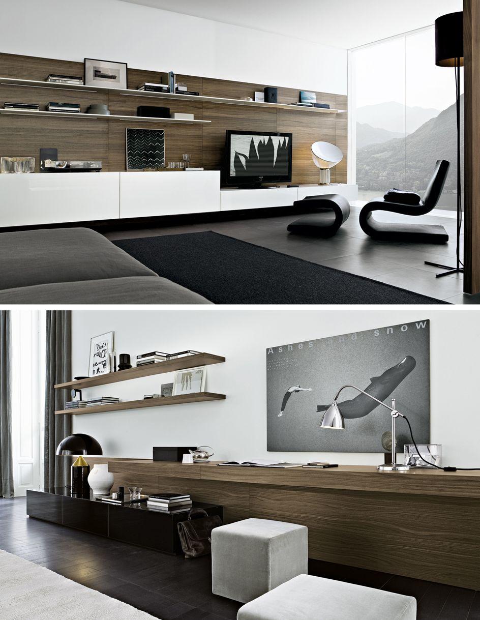 Fernsehschränke Regale Wohnzimmer Holz Wandgestaltung   Sala De TV    Pinterest   Tv Units, Tv Walls And Consoles