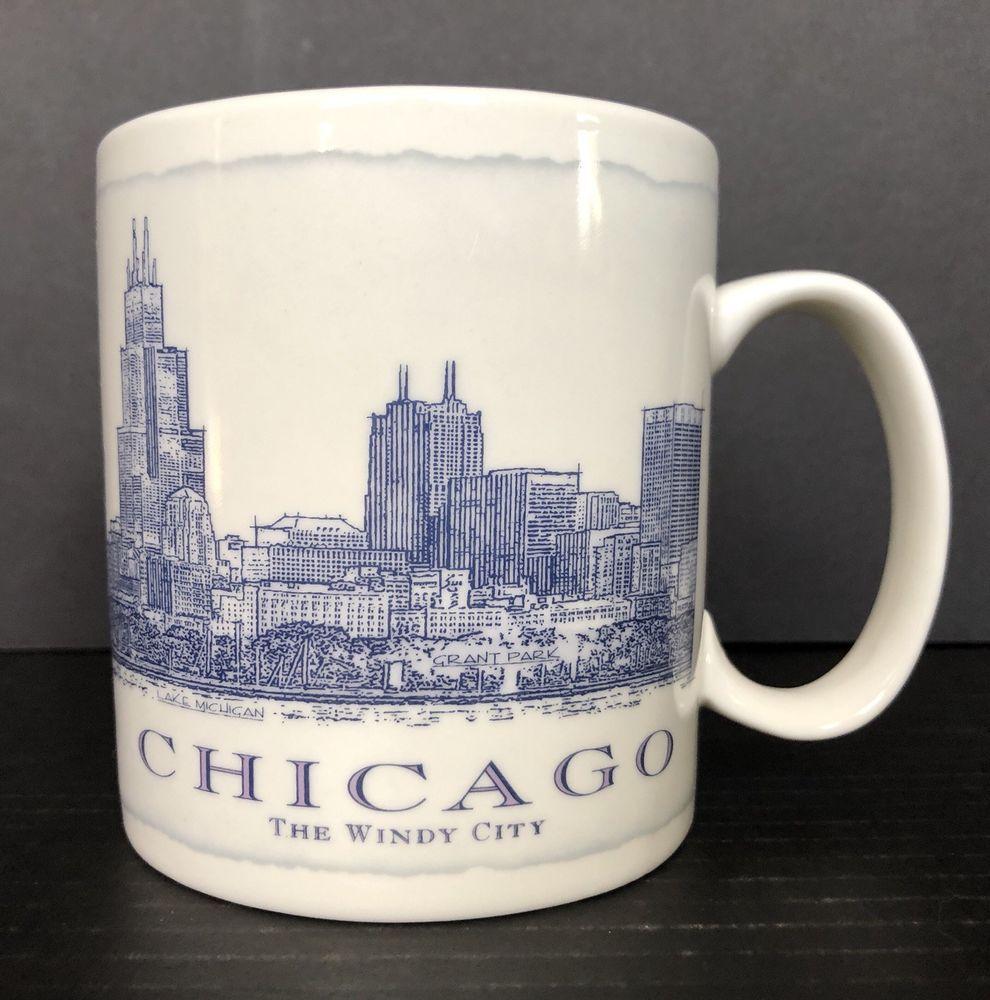 b370e6384db Starbucks Coffee Mug Chicago the Windy City 2007 Large 18 oz #Starbucks