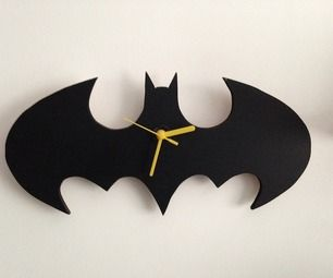 Batman Wall Clock - No home should be without one. (Instructables)