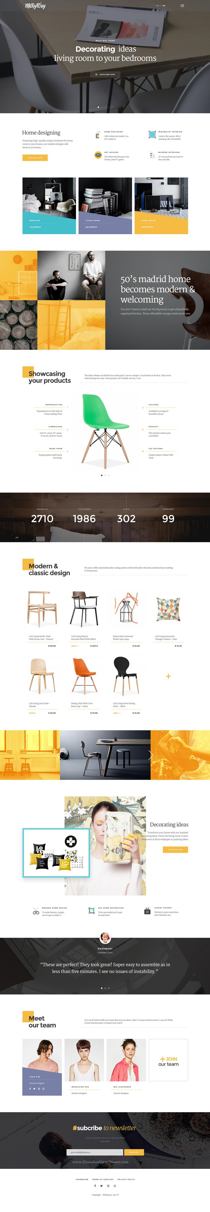 Milkyway Is Creative Ecommerce Psd Template For Furniture
