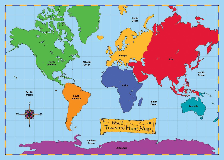 World Treasure Hunt Map This Huge Vinyl Floor Mat Is