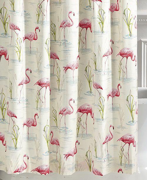 my 10 favorite flamingo shower curtains