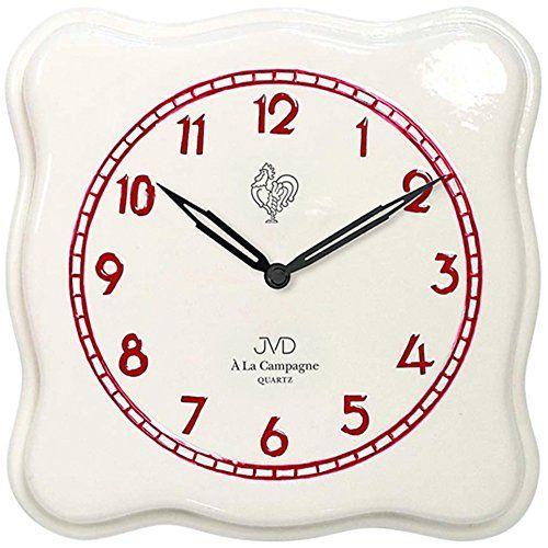 JVD TS26153 Küchenuhr Wanduhr Küche Quarz analog Keramik   - wanduhr für küche