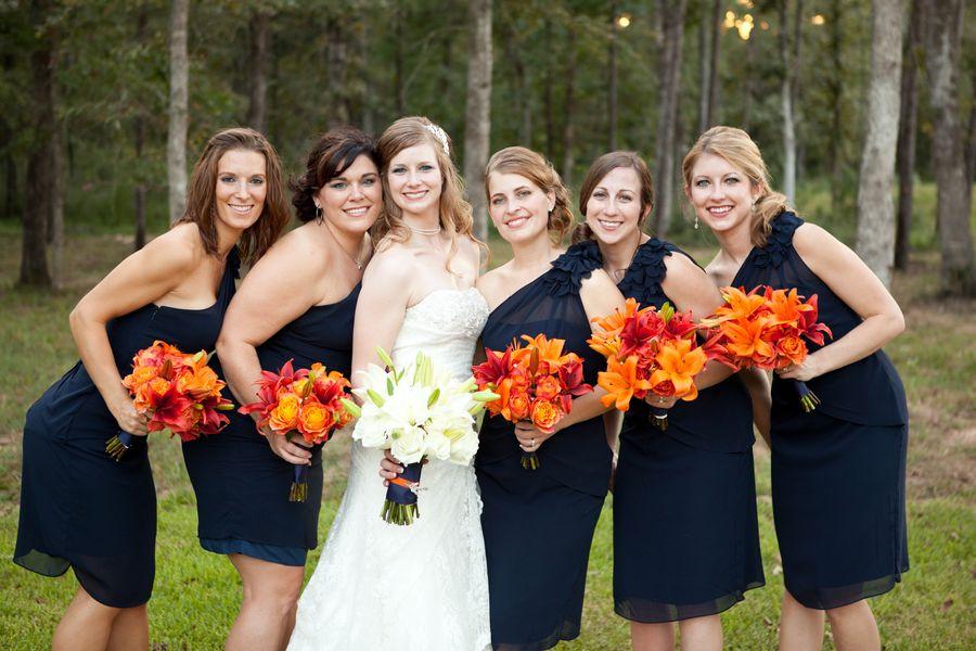 Orange Navy Blue Wedding At Amber Springs