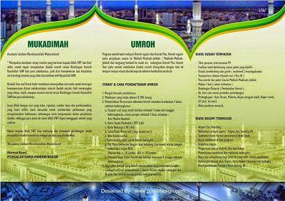 Contoh Desain Brosur Umroh Haji Contoh Iklan Produk Dan Jasa