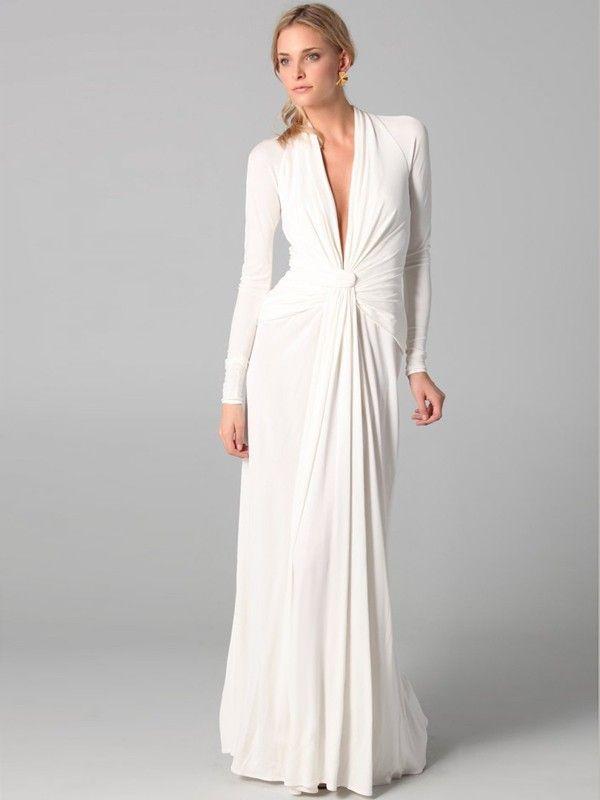 Lange Armel Abendkleid Weiss Abendkleid Weiss Brautkleid Lange Armel Gunstige Kleider