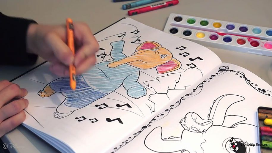 augmented-reality-children-coloring-book-3D-character-app-disney-research-8