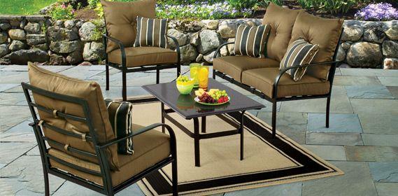 199 Gardenline 4 Piece Conversational Set Outdoor Furniture