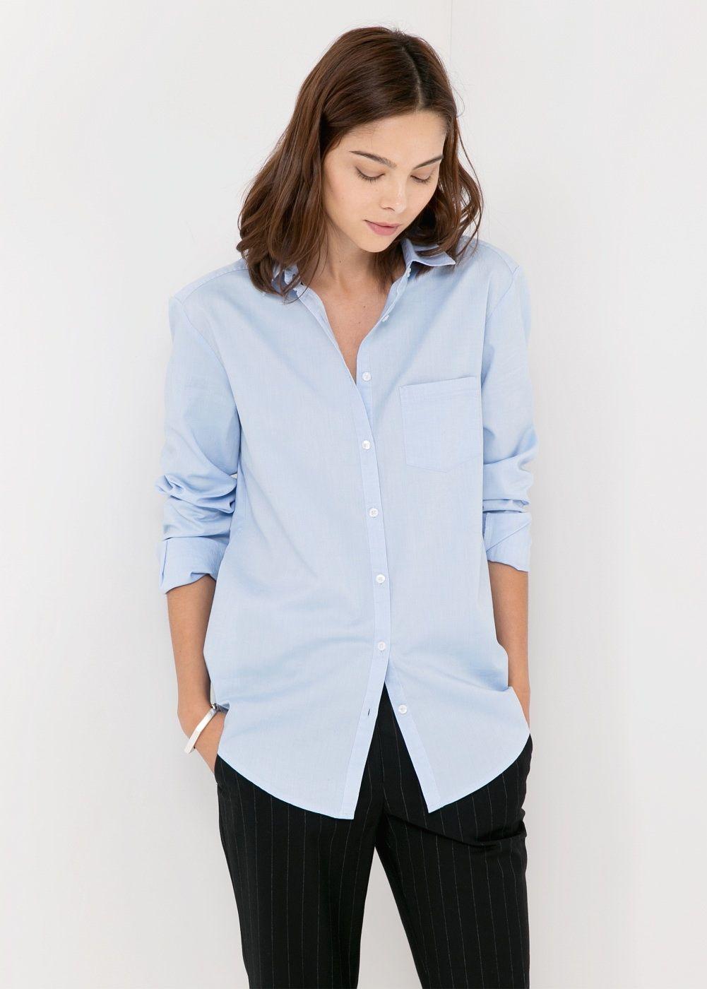Chest-pocket cotton shirt