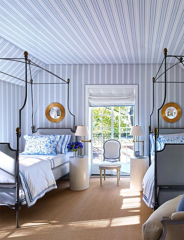 O poder do AZUL! Bedrooms, Twin beds and Dresser