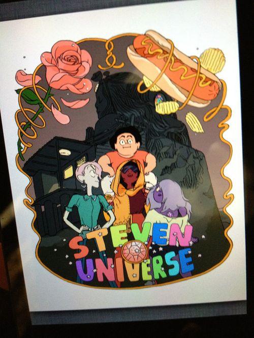 steven universe vercion piloto. creo que asi fue el primer diseño de los personajes.