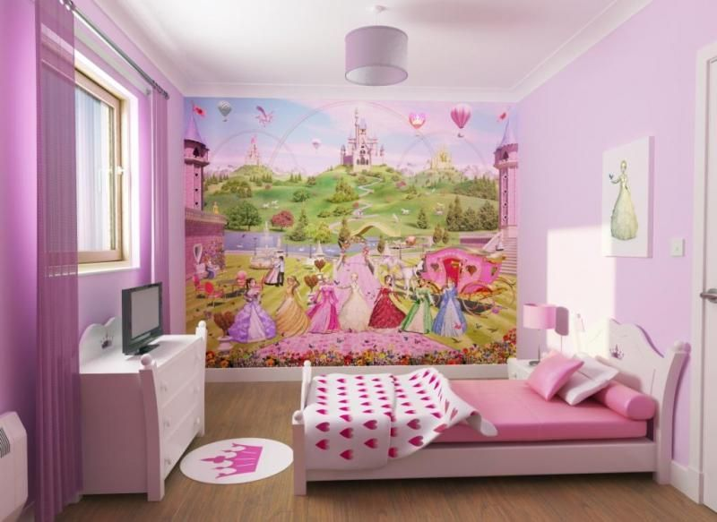 Charmant Kids Bedroom Decorating Ideas | If You Have Girl You Can Decorate Her Room  Using Wall