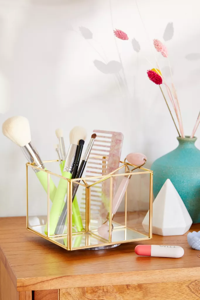 Francine Swivel Makeup Organizer Box -   18 diy Box makeup ideas
