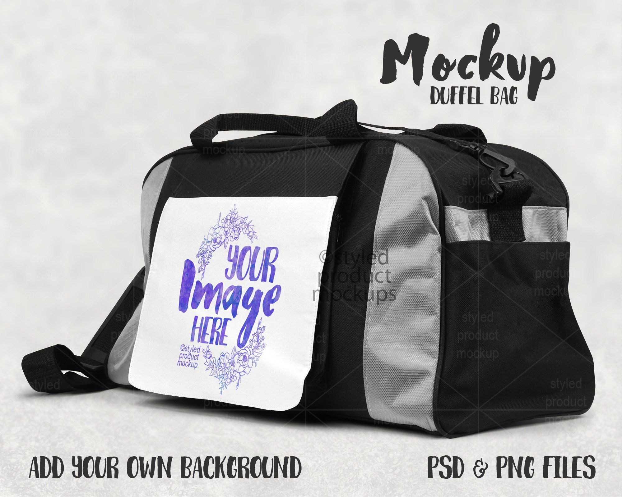 Download Dye Sublimation Duffel Bag Mockup Add Your Own Image And Background Bag Mockup Duffel Duffel Bag