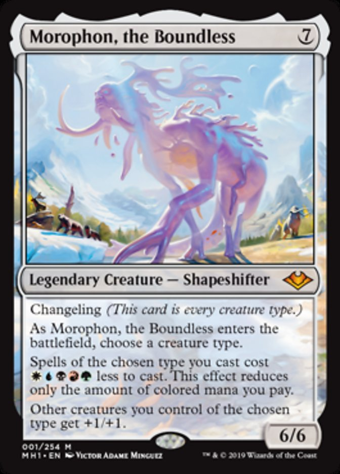 Modern Horizons Magic the Gathering MTG THE BOUNDLESS 1x MOROPHON NM