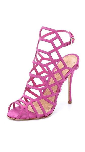 d64fe9f95e SCHUTZ: Schutz Juliana Caged Sandals - Pink Buy Now $190.0 Find at Faearch