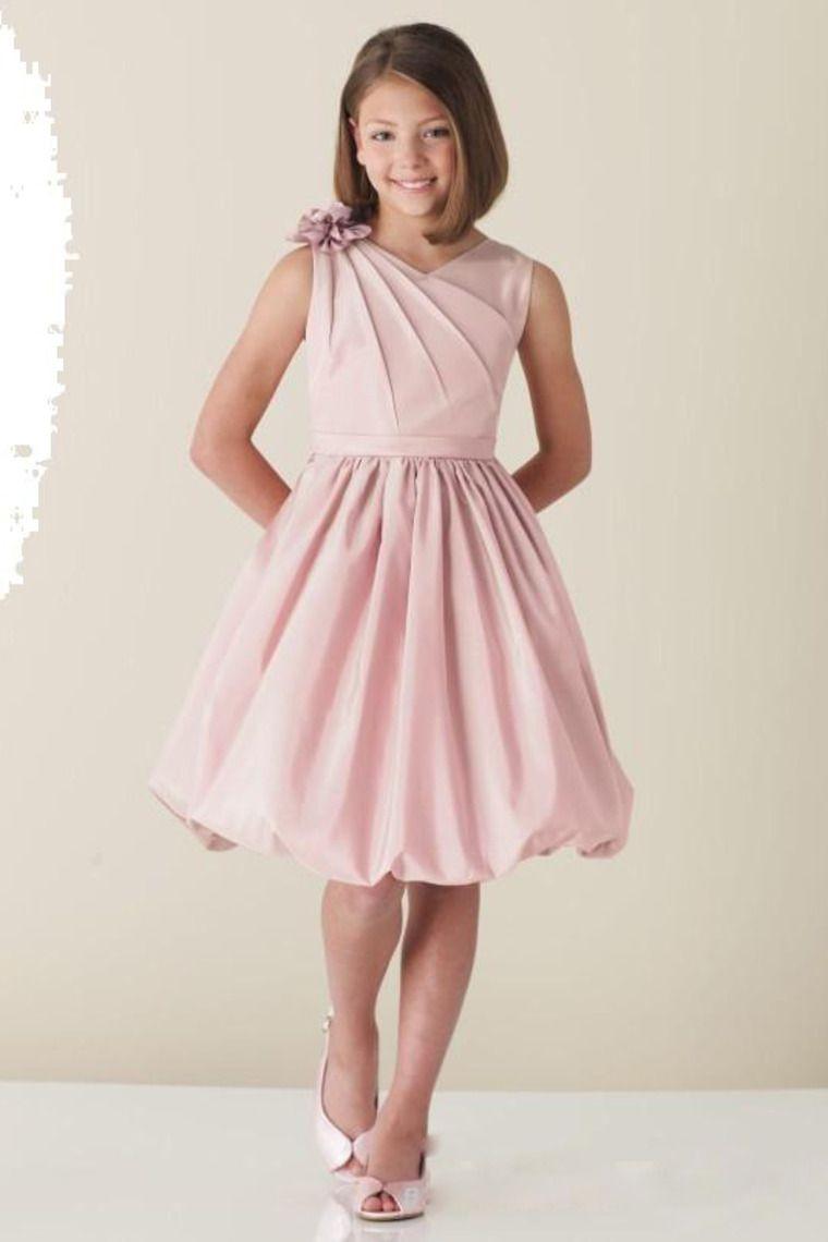 New Arrival Flower Girl Dresses A Line Ball Gown V Neck Knee Length ...