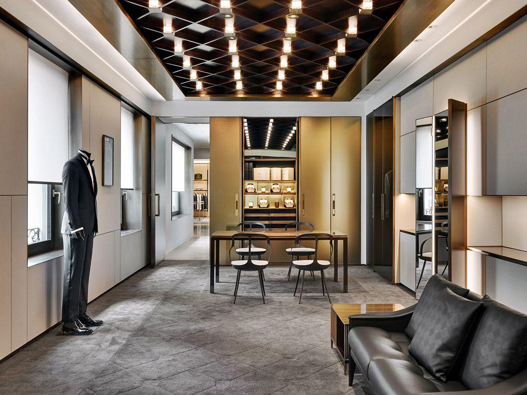 Brioni flagship store milan frankfurt park associati for Interior design frankfurt