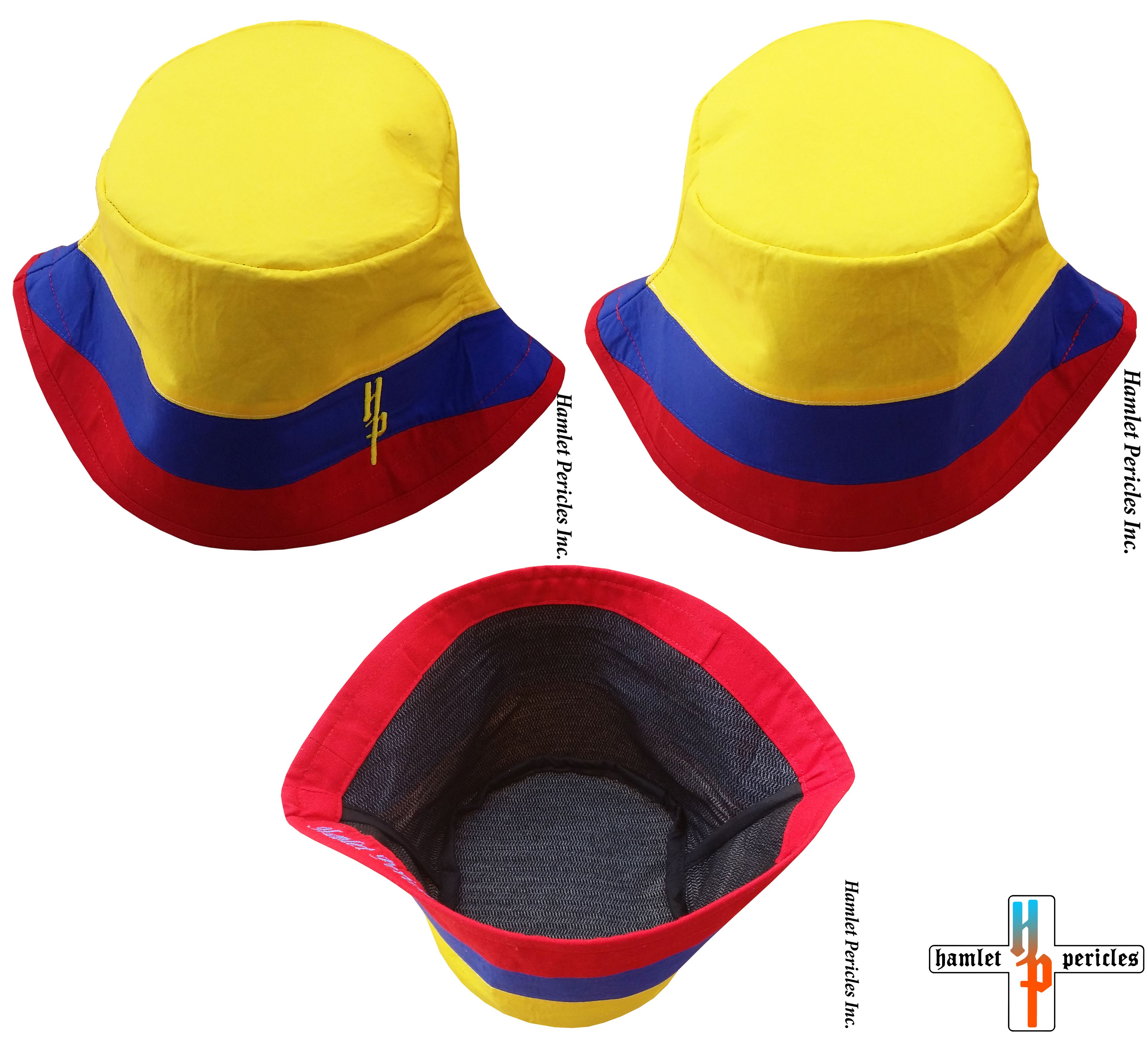 1ef4f77d040 Colombia Flag Bucket Hat via Hamlet Pericles