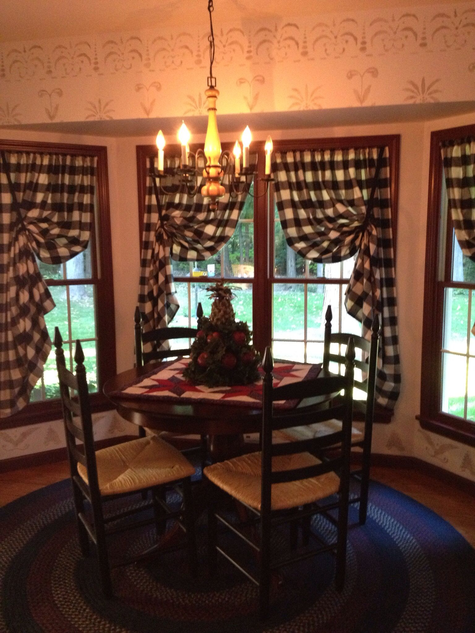 Country decor curtains for kitchen