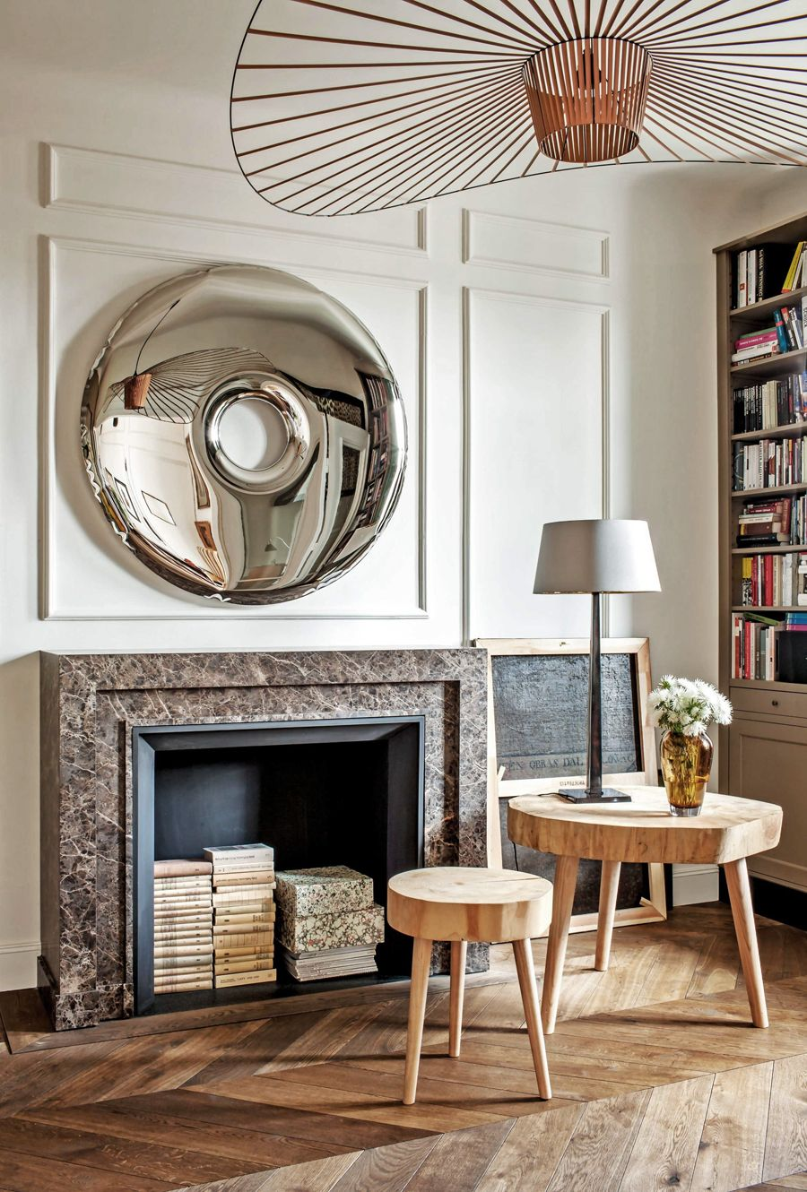 Eclectic living room by Marta Chrapka of Colombe Design ...