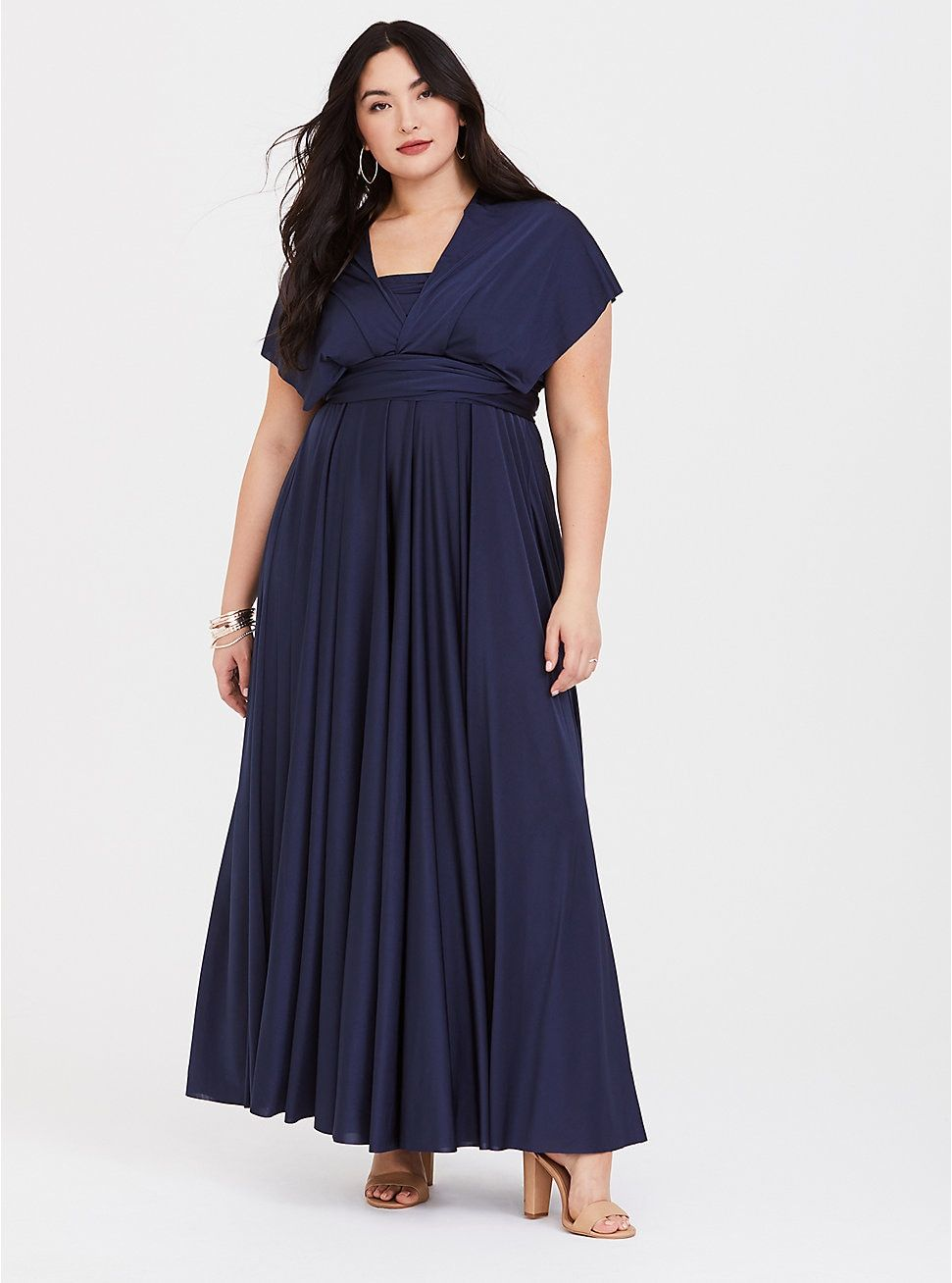 Special Occasion Navy Studio Knit Convertible Maxi Dress | Special ...