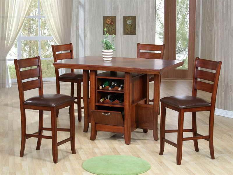 tall kitchen tables - High Kitchen Table And Chairs