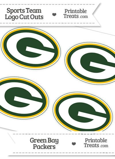 Small Green Bay Packers Logo Cut Outs from PrintableTreats.com ...