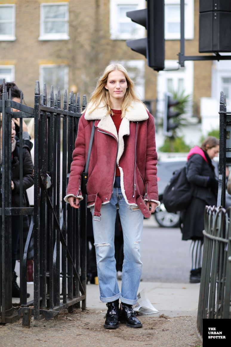 On the Street….Marique Schimmel.. Love that jacket