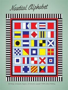 Nautical Alphabet Quilt ePattern | quilts island | Pinterest ... : nautical quilt blocks - Adamdwight.com
