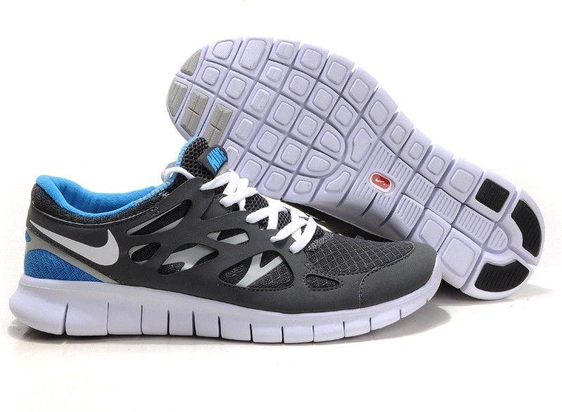 size 40 0ffa0 32b9e Nike Free Run 2,0 Damen  Herren Schuhe Sale - Weiß Grau  Blau