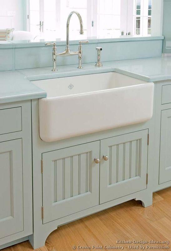 porcelain farmhouse sink i love dyi blue kitchen cabinets rh pinterest com