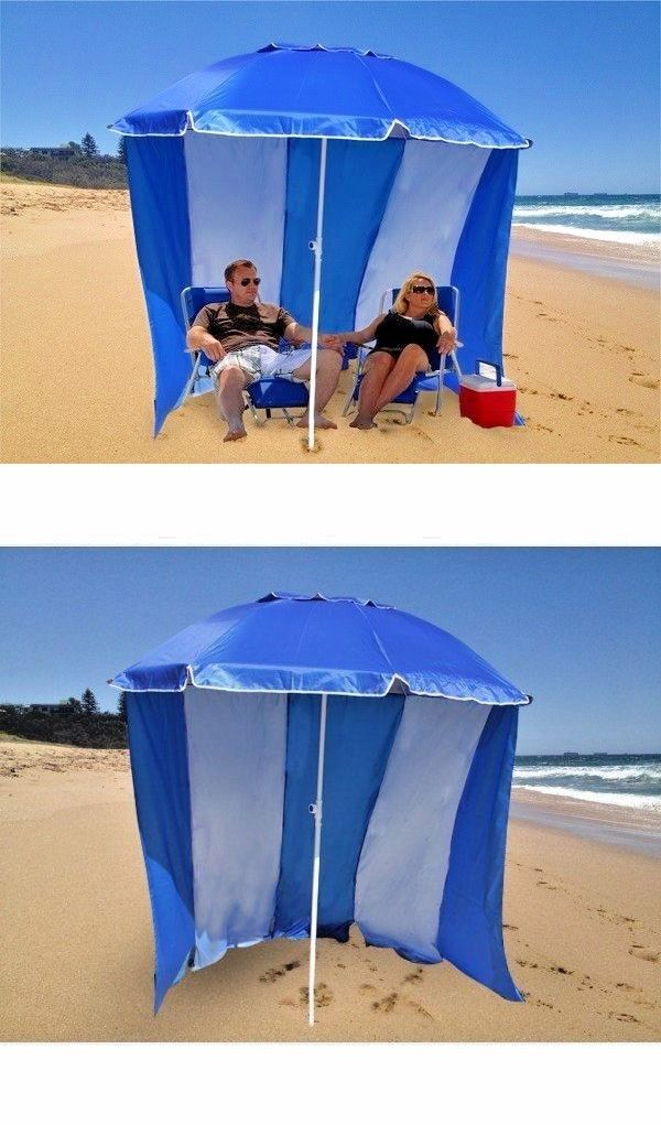 Canopies and Shelters 179011 Beach Shelter Cabana Portable Sun Shade Canopy Tent Umbrella C&ing Hut & Canopies and Shelters 179011: Beach Shelter Cabana Portable Sun ...