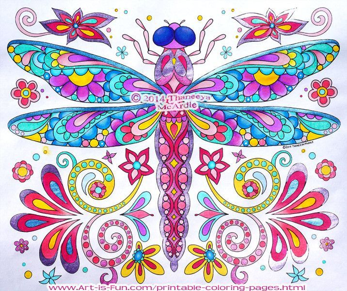 dragonfly drawing color Google Search Color Ideas Pinterest