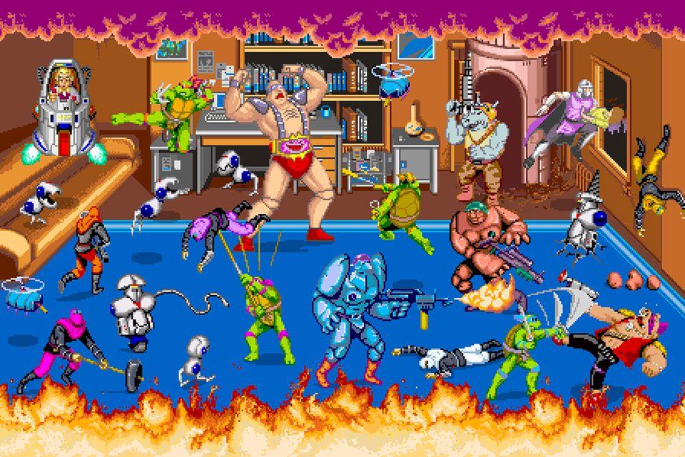 Teenage Mutant Ninja Turtles Arcade Poster | Video Game Posters