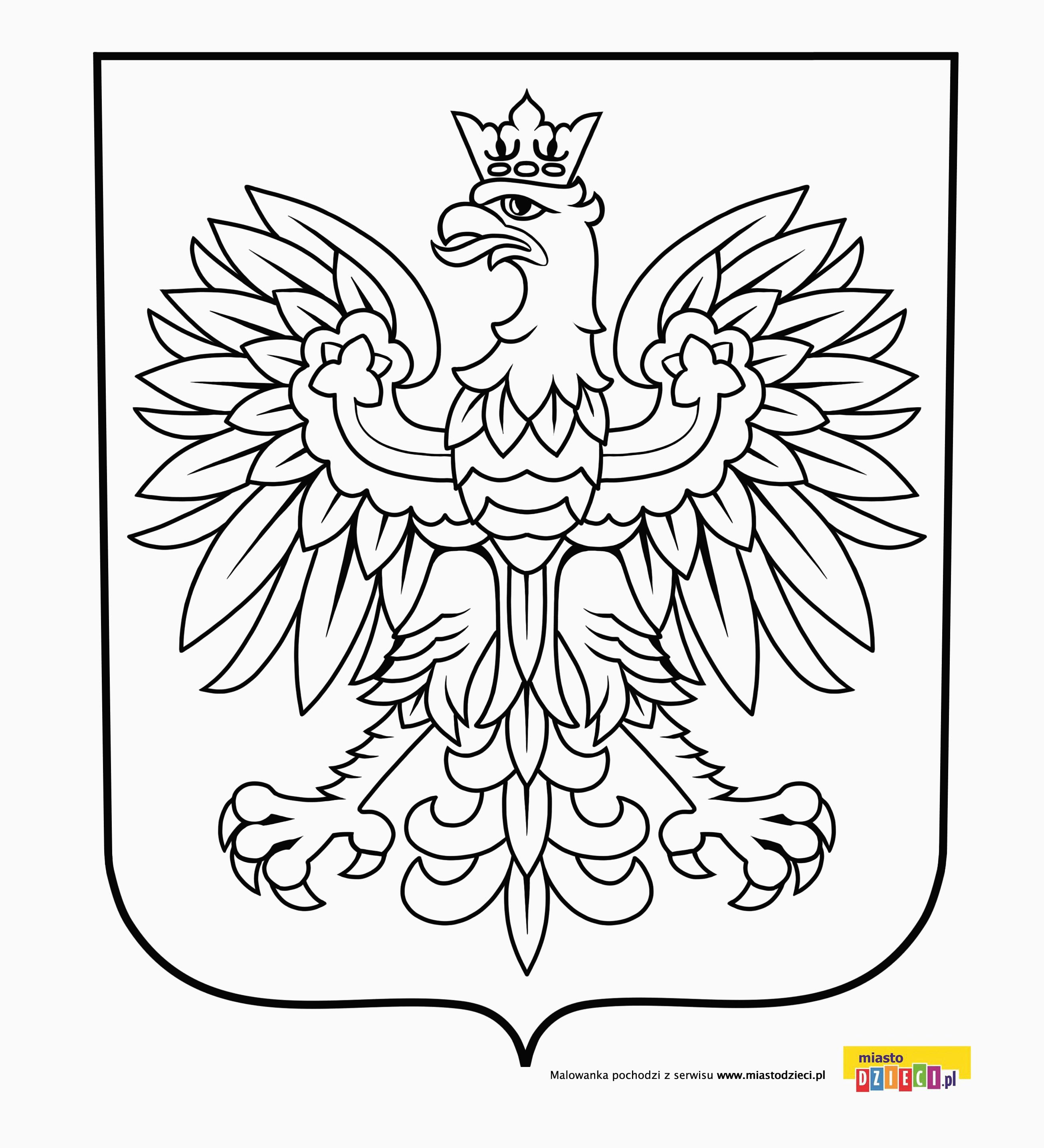 Godlo Polski Kolorowanka Orzel Bialy Herby Polskich Miast Malowanki Dla Dzieci Do Druku Polish Folk Art World Thinking Day Cute Coloring Pages