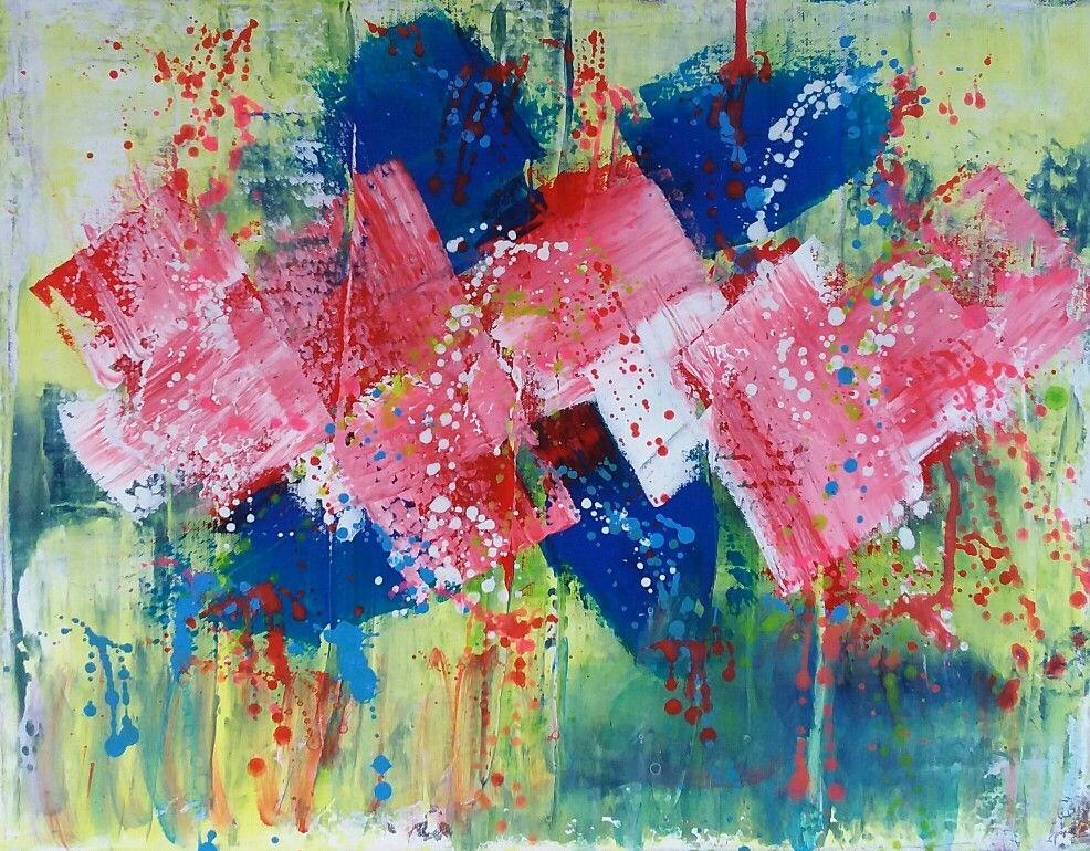 Abstract/modern  40 bij 50 Acryl