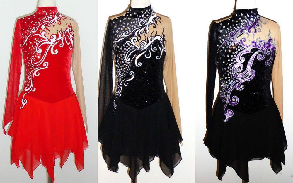 Ice/Roller Figure Skating/Skate Dress/Lyrical Dance costume/Twirling Made to Fit #OOAK