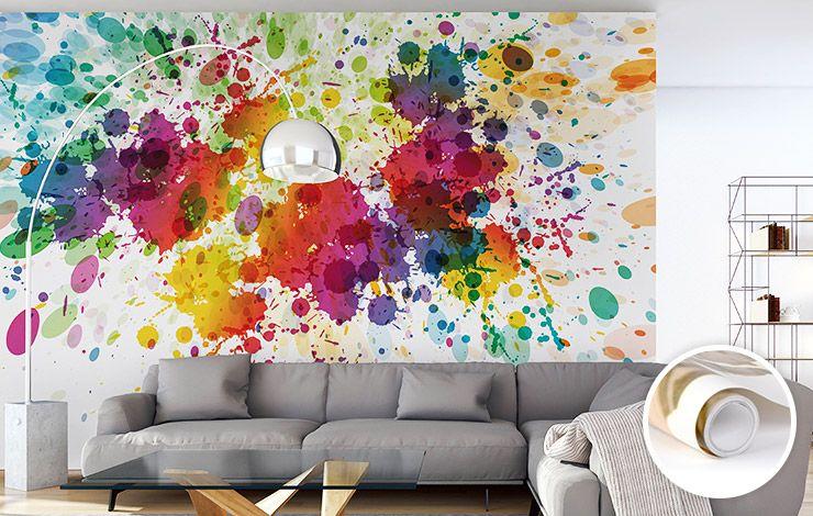 individuelle wandgestaltung mit tapete fototapete leinwand poster plattendruck galerie vie abstract watercolor splash background im rahmen bilder mehrteilig auf