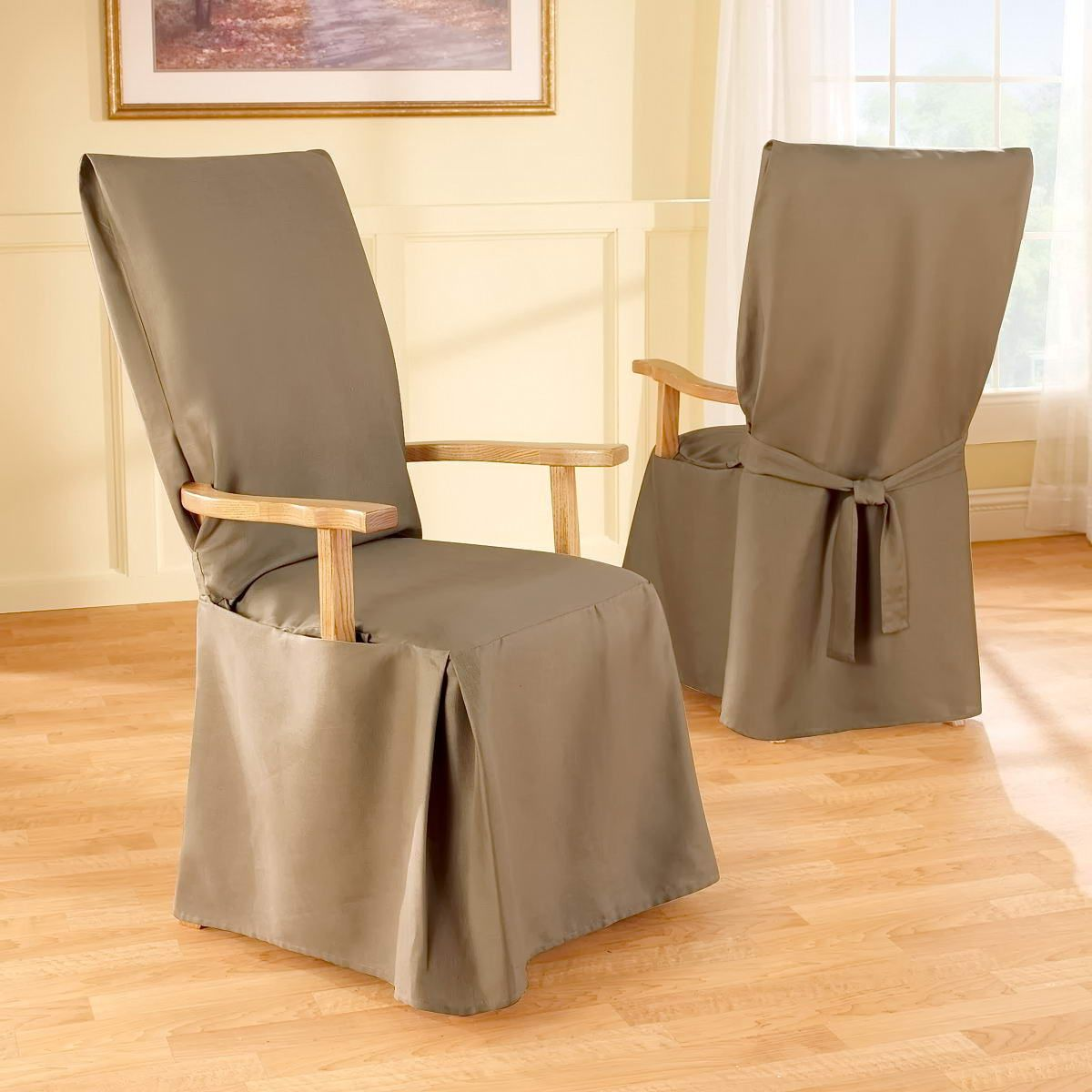 Slipcovers For Dining Room Chairs With Arms Slipcovers For