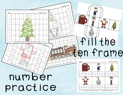 number practice and fill the ten frame game from Polar Express | A+ ...