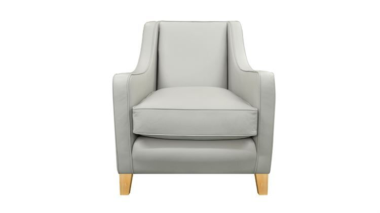 Alpine Leather Chair in Airone Soulwhite