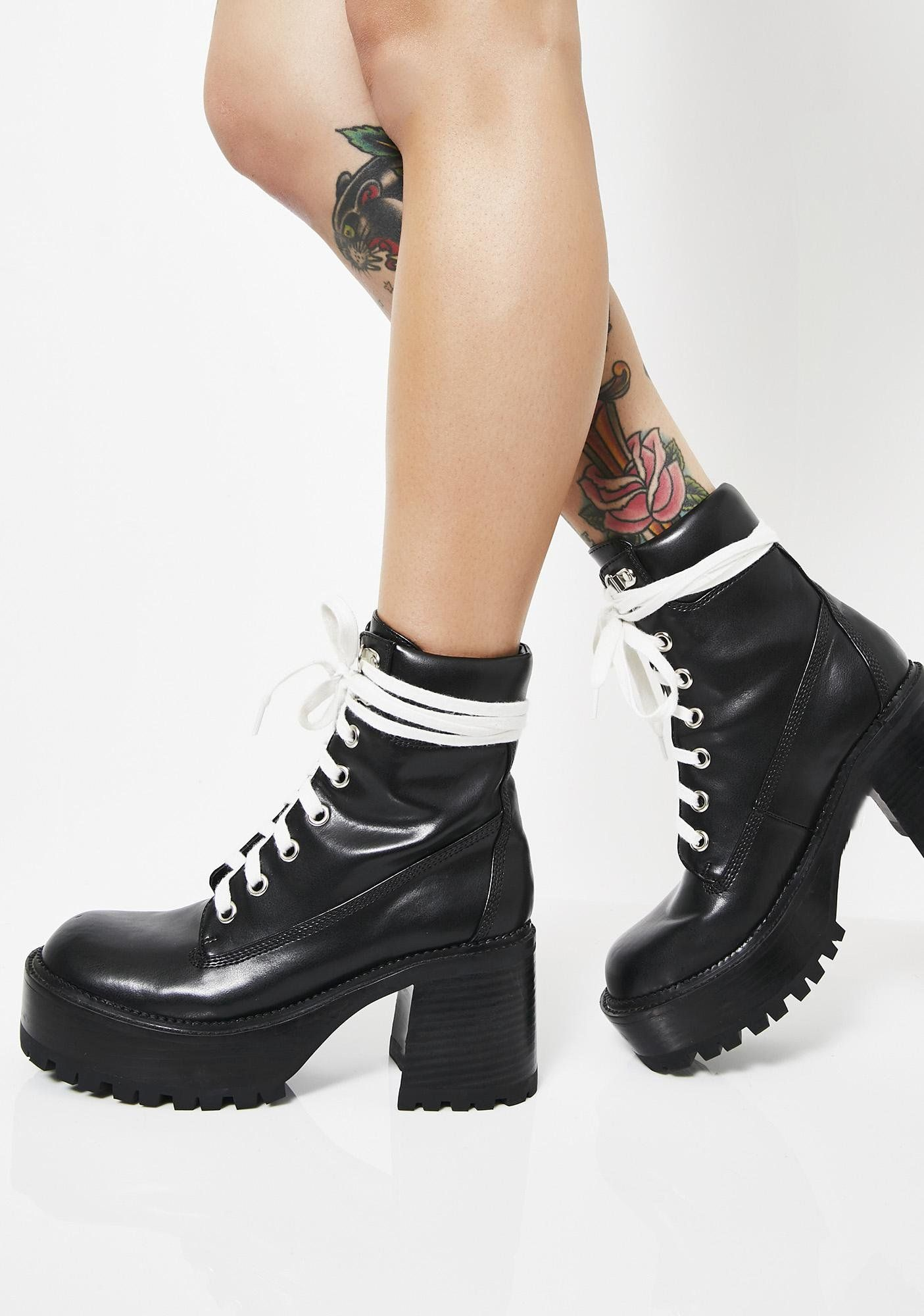 41a9d5e8922 Current Mood Take A Hike Chunky Boots at Dolls Kill