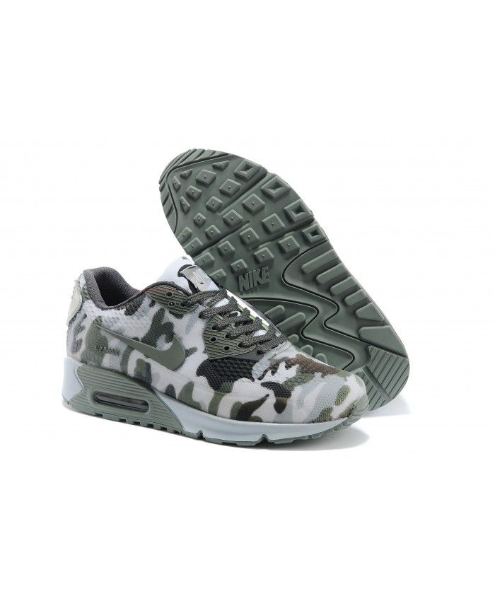 Cheap UK Nike Air Max 90 Hyperfuse Camouflage Army Green White Mens &  Womens Trainers/