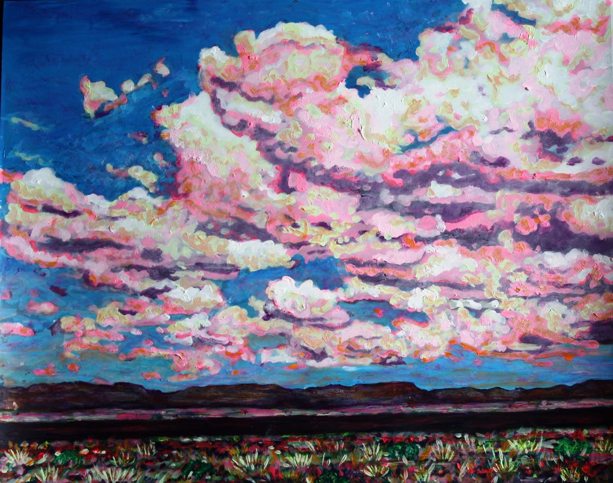 West Texas Sky, 16X20, Acrylic Painting, Kimberly Delgado