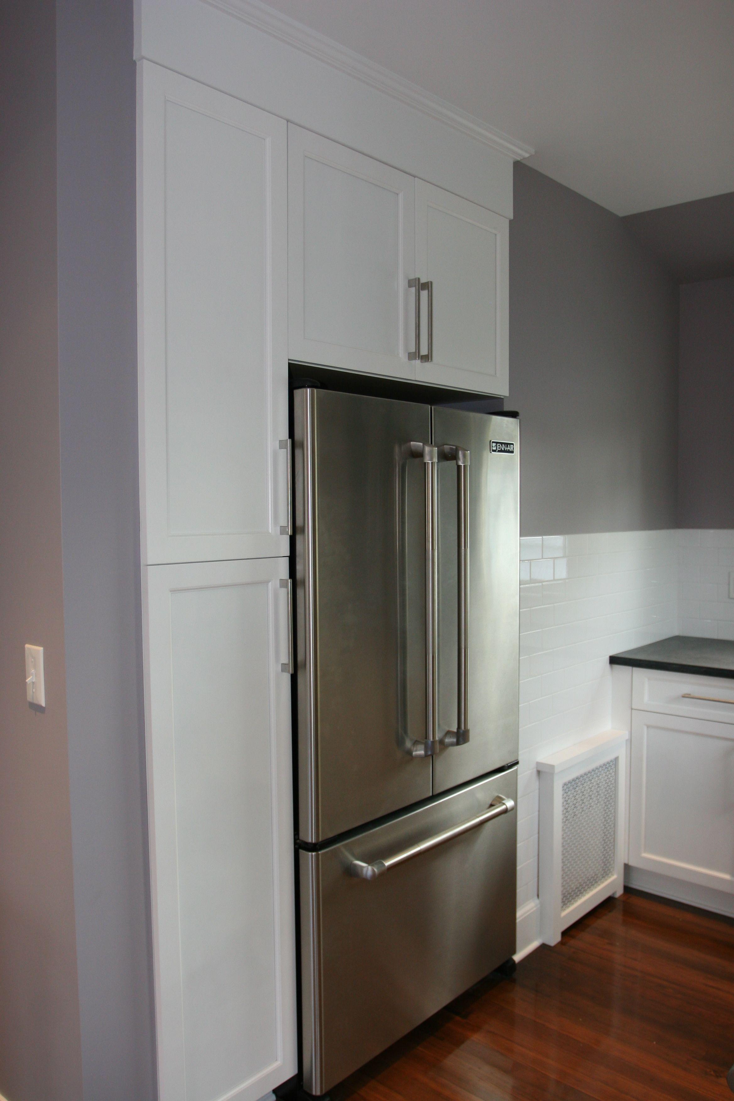 Kitchen Cabinets Around Fridge built in cabinets around refrigerator | kitchen remodel ideas