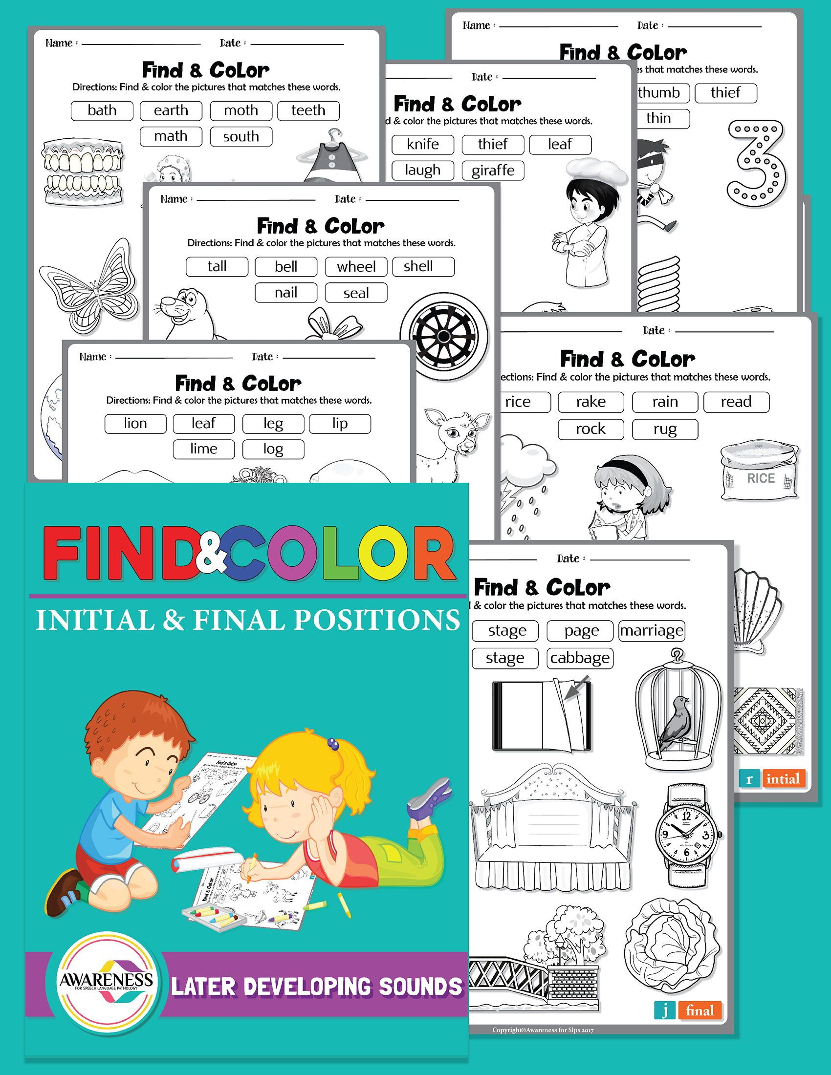 Articulation Homework Activity Coloring Sheets For Speech