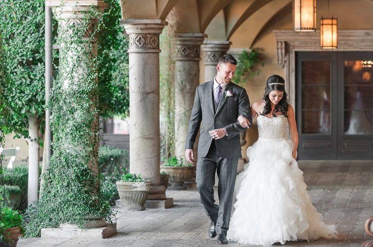 Villa Siena Middlebrooks Dell Wedding Bride Groom Walking
